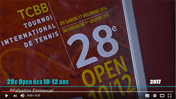 Le film de présentation du 28e Open International des 10/12