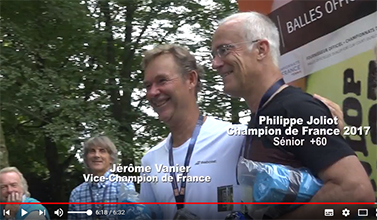 Philippe Joliot champion de France 60+ 2018